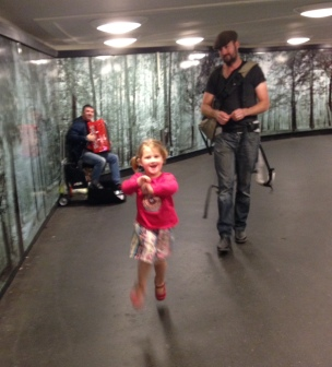skippity hopping through the Berlin subway